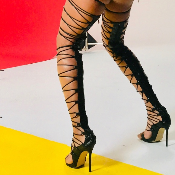 0875bd0955 FINAL SALE❗️Thigh High Strappy Heels Boots Sandals.  M_5be201323e0caaa10f3c9220
